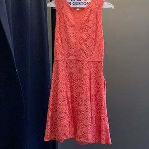 Coral lace dress size 2, barely worn